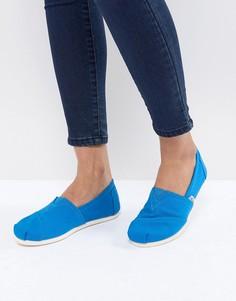 Парусиновые туфли кобальтового цвета TOMS Alpargata - Синий