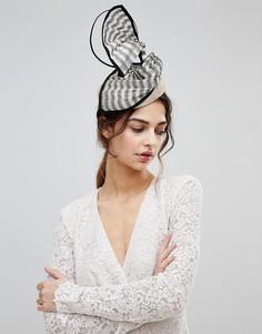 Шляпа с отделкой в полоску Vixen - Черный