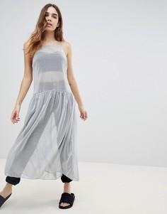 Платье миди Monki - Серебряный