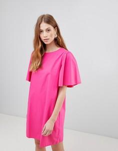 Свободное платье с объемными рукавами Vila - Фиолетовый