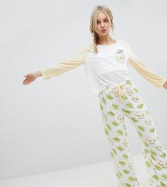 Пижамный комплект с принтом авокадо MinkPink - Желтый