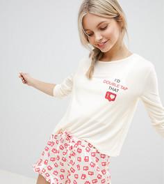 Пижамный комплект с шортами MinkPink - Розовый