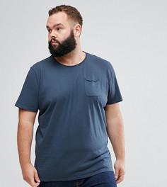 Футболка с необработанными краями кармана Tokyo Laundry PLUS - Синий