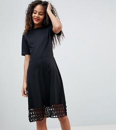 Платье с отделкой кроше по краю Y.A.S Tall - Черный