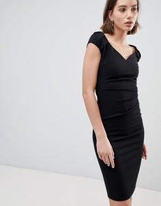 Платье миди с плиссировкой City Goddess - Черный