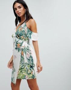 Платье с запахом и принтом Adelyn Rae Prescilla - Мульти