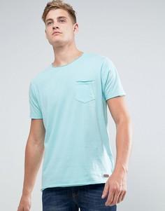 Базовая футболка с необработанными краями Brave Soul - Синий
