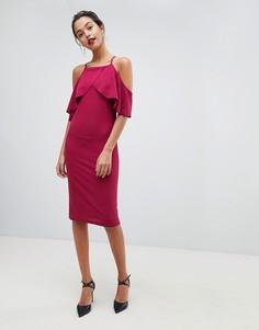 Платье-футляр с накладкой Ax Paris - Фиолетовый