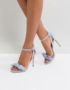 Босоножки на каблуке с бантиками Miss KG - Синий