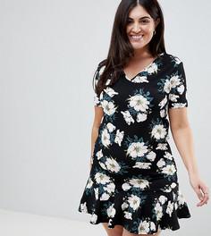 Платье-футболка с оборкой AX Paris Plus - Мульти