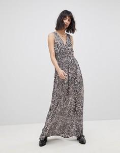 Платье макси с принтом Vero Moda - Черный