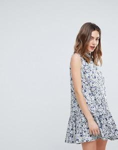 Платье-рубашка с цветочным принтом Deby Debo July - Синий