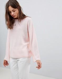 Вязаный джемпер с рукавами клеш Brave Soul Mossley - Розовый