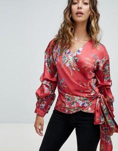 Блузка с запахом и оборками RD & Koko - Красный
