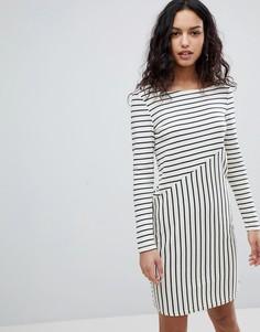 Платье в полоску Y.A.S - Белый