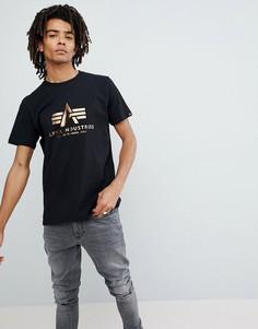 Черная футболка Alpha Industries - Черный
