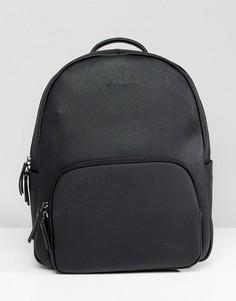 Черный кожаный рюкзак Smih And Canova - Черный
