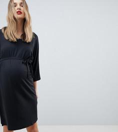 Платье с поясом на завязке Mamalicious - Черный Mama.Licious