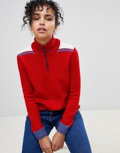 Джемпер в стиле колор блок с добавлением шерсти Pepe Jeans Claudia - Красный
