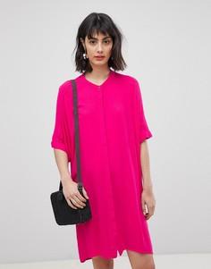 Платье-рубашка без воротника Vero Moda - Розовый