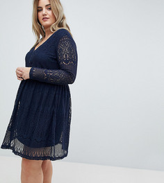 Кружевное платье Junarose - Темно-синий