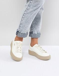 Лакированные кроссовки на платформе Puma - Белый