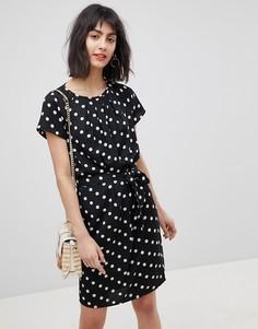 Платье в горошек с завязкой на талии Vero Moda - Мульти