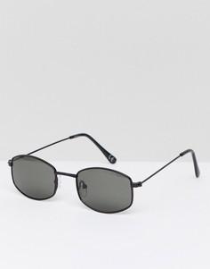 Черные солнцезащитные очки в квадратной оправе Jeepers Peepers - Серебряный