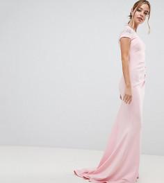 Платье макси с кружевом City Goddess petite - Розовый