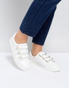 Кроссовки с тремя застежками на липучку Miss KG - Белый