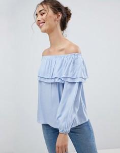 Топ с открытыми плечами Glamorous - Синий