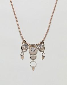 Ожерелье-воротник с кристаллами Missguided - Золотой