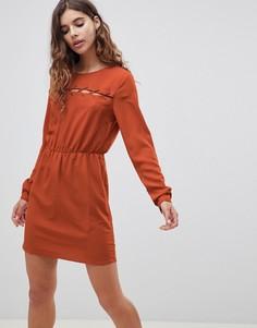 Платье с плетеной отделкой First & I - Оранжевый