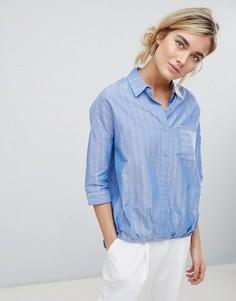 Свободная рубашка с асимметричным низом See U Soon - Синий