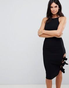Облегающее платье с завязкой сбоку Ax Paris - Черный