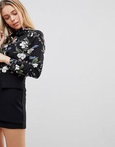 Рубашка с цветочным принтом Girls on Film - Мульти