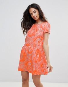Платье с принтом пейсли FRNCH - Оранжевый