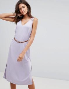 Платье макси с поясом Pussycat London - Фиолетовый