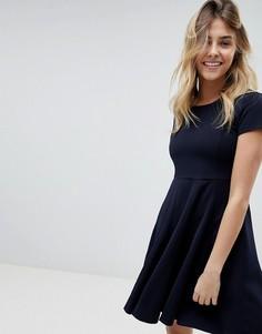 Короткое приталенное платье Louche - Темно-синий