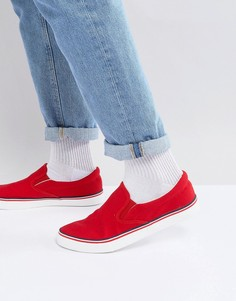 Кеды-слипоны в стиле ретро Brave Soul - Красный