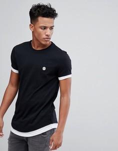 Двухслойная футболка Le Breve - Черный