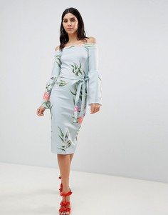 Платье с рукавами клеш True Violet - Мульти