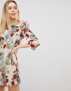 Платье А-силуэта с цветочным принтом Girls on Film - Мульти