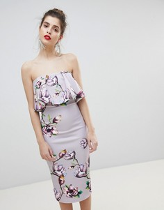 Платье с принтом и оборками True Violet - Фиолетовый