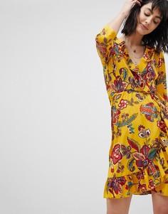 Платье с цветочным принтом и запахом Vero Moda - Мульти