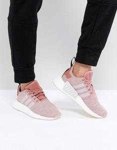 Розовые кроссовки adidas Originals NMD R2 HLD - Розовый