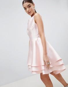 Платье для выпускного асимметричной длины Club L - Розовый