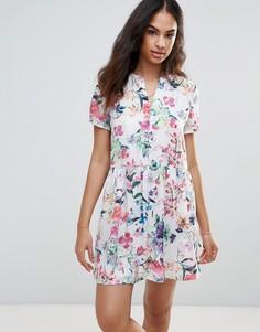 Платье с цветочным принтом FRNCH - Белый