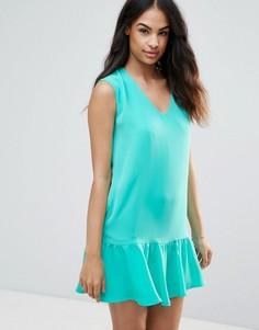 Платье с оборкой по нижнему краю FRNCH - Зеленый