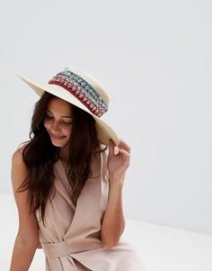 Летняя соломенная шляпа Liquorish - Кремовый